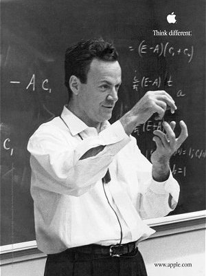 Apple Computer's Think Different Poster Featuring Richard Feynman