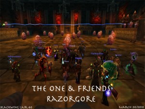The One and Friends at the Start of Razorgore Encounter in Blackwing Lair