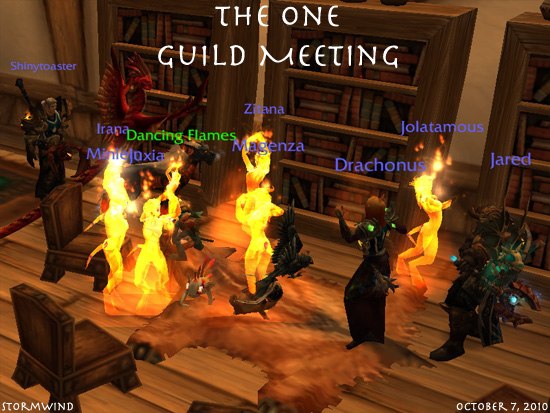 Screenshot of a recent typical One guild meeting