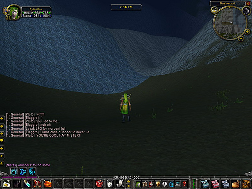 World of Warcraft screenshot of the blurred boundaries between zones.