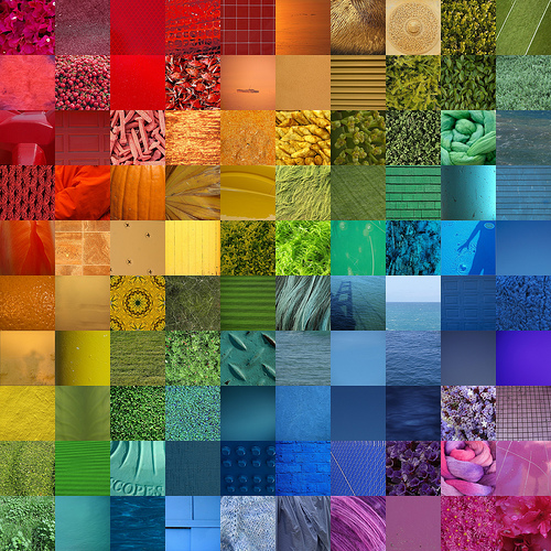Photo Composit: All the colours of the rainbow