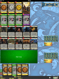Screenshot of Dominion on iPad