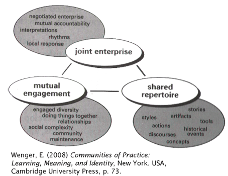 Figure depicting different components of a community of practice